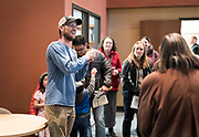 Operation Fresh Start outreach specialist Greg Miller gives a tour during the grand opening ceremony for the renovated Operation Fresh Start building on Milwaukee Street in Madison, WI on Thursday, April 11, 2019.