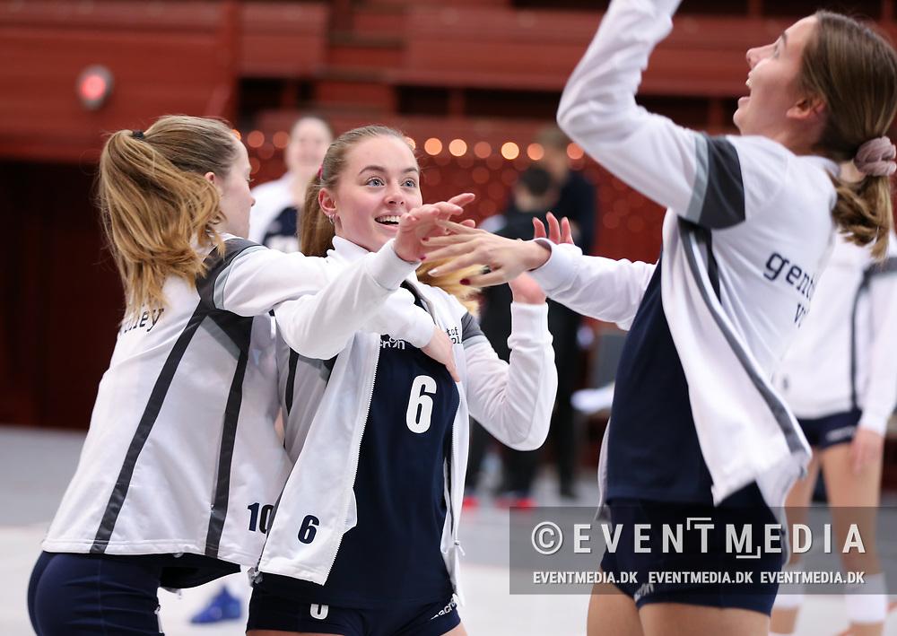 Kamp i Volleyligaen mellem Elite Volley Aarhus og Gentofte Volley i Århus Gl. Stadionhal, Århus, Danmark, den 11.12.2018. Photo Credit: Allan Jensen/EVENTMEDIA.