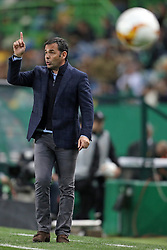 February 14, 2019 - Lisbon, Portugal - Javier Calleja of Villarreal coach seen during the Europa League 2018/2019 footballl match between Sporting CP and Villarreal FC. (Credit Image: © David Martins/SOPA Images via ZUMA Wire)