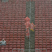 Kansas City Chiefs fans got to their upper deck seats early prior to the game against the San Diego Chargers on Sunday, December 13, 2015 at Arrowhead Stadium in Kansas City, Mo.