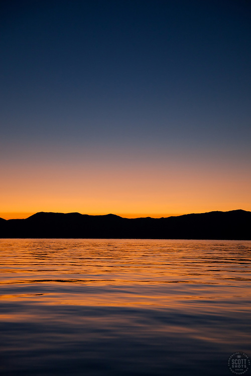 """""""Sunrise at Lake Tahoe 7"""" - This sunrise was photographed from a boat on Lake Tahoe."""