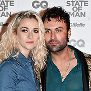 Portia Freeman and Pete Denton Arrivers at GQ 30th Anniversary celebration at Sushisamba, The Market, Convent Garden on 29 October 2018.