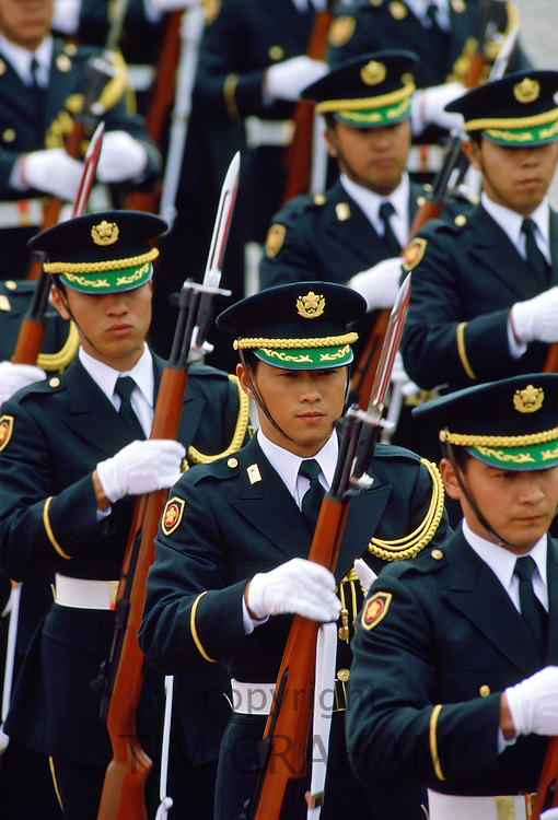 Soldiers marching, Tokyo, Japan