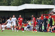 Luton Town Manager Nathan Jones and Crawley Town Manager Dermot Drummy during the EFL Sky Bet League 2 match between Crawley Town and Luton Town at the Checkatrade.com Stadium, Crawley, England on 17 September 2016. Photo by Phil Duncan.