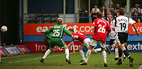 Photo:  Frances Leader.<br /> Luton Town FC v Milton Keynes Dons. The Coca-Cola League One. Kenilworth Road.<br /> 16/04/05<br /> The Dons captain Ben Chorley scores an own goal to bring the half time score to 1-0.
