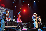 September 22, 2012- Los Angeles, CA: Freestyle Fellowship performs at the Lyricist Lounge 20th Year Reunion Party-Los Angeles held at Club Nokia at LA Live on September 22, 2012 in Los Angeles, California. The Lyricist Lounge is a hip hop showcase of rappers, emcees, DJ's, and Graffiti artists. It was founded in 1991 by hip hop aficionados Danny Castro and Anthony Marshall. It was a series of open mic events hosted in a small studio apartment in the Lower East Side section of New York City. (Terrence Jennings)