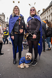 Over a million people marched through central London demanding a 'People's Vote' on Brexit, according to organisers. The 'Put it to the people' march took place just six days before the UK is due to leave the European Union on March 29. Organisers claimed the march was the biggest yet and might be the largest demonstration ever in the UK. Politicians and celebrities addressed the massed crowds in Parliament square outside the Westminster parliament. Scottish first Minister Nicola Sturgeon, Labour deputy leader Tom Watson and former Conservative Deputy Prime Minister Michael Heseltine, were among the speakers. The event came as political chaos gripped the UK with many fearful of the consequences of the country leaving the EU with no 'deal' agreed.