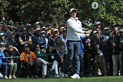 April 8, 2018 - Augusta, GA, USA - Rory Mcllroy tees off on four  during the final round of the Masters at Augusta National Golf Club on Sunday, April 8, 2018, in Augusta, Ga. (Credit Image: © Curtis Compton/TNS via ZUMA Wire)