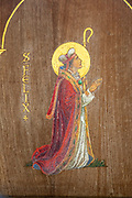 Saint Felix picture inside, church of St Michael South Elmham, Suffolk, England, UK