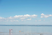 17/06/2014 Two ladies enjoying the sun on a secluded beach near Kinvara Galway<br />   Photo:Andrew Downes
