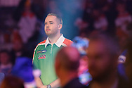 Steve Lennon waiting for his walk-on during the Darts World Championship 2018 at Alexandra Palace, London, United Kingdom on 18 December 2018.
