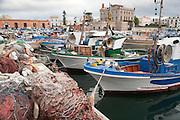 The port of Favignana in the Aegadian Islands (Isole Egadi), western Sicily, Italy