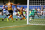 Hull City forward Jarrod Bowen (20) scores a goal (score 0-1) during the EFL Sky Bet Championship match between Queens Park Rangers and Hull City at the Loftus Road Stadium, London, England on 19 August 2017. Photo by Andy Walter.