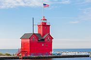 64795-03208 Holland Lighthouse (Big Red) on Lake Michigan Holland, MI