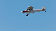 Piper Super Cub tow plane at Ken Jernstedt Airfield.