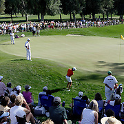 RANCHO MIRAGE, CA, March 31, 207:  Lorena Ochoa had a disastrous 17th hole during the third round where she whiffed on this stroke and fell from the lead to out of contention at the Kraft Nabisco Championship at Mission Hills Country Club in Rancho Mirage, California.
