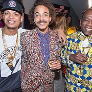 NLD/Amsterdam/20151119 - Esquire Best Geklede man 2015, winnaar Ronnie Flex, Raoul de Jong en .............