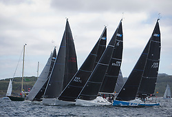Clyde Cruising Club's Scottish Series 2019<br /> 24th-27th May, Tarbert, Loch Fyne, Scotland<br /> <br /> Day 1, RC35 Class, Start, GBR3627L, Animal, CCC/RNCYC, First 36.7, GBR8543R, Jings, CCC, J109, GBR732R, Hijacker,  Down Cruising Club, Ker 32<br /> <br /> Credit: Marc Turner / CCC