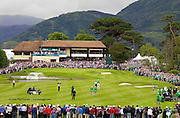 Ross Fisher plays his second shot to the 18th green before  winning the 3 Irish Open at Killarney Golf Club on Sunday..Picture by Don MacMonagle