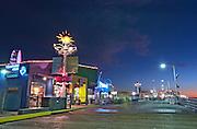 Blue hour on Santa Monica Pier   An Evening at Santa Monica Pier, Los Angeles, California, USA