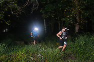 Mamakating, New York - Runners in the 50-mile division of the Shawangunk Ridge Trail Run/Hike follow the trail through the Bashakill Wildlife Management Area on Sept. 16, 2017.