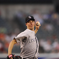08 June 2007:  Colorado Rockies pitcher Jeff Francis (26) in action against the Baltimore Orioles.  The Orioles defeated the Rockies 4-2 in interleague play at Camden Yards in Baltimore, MD.   ****For Editorial Use Only****
