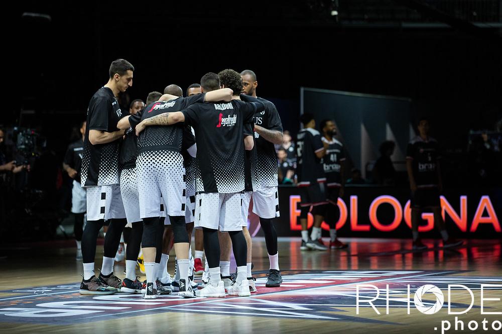 Team Virtus Segafredo Bologna (ITA)  pre game peptalk<br /> <br /> <br /> Basketball Champions League Final Four Antwerp 2019<br /> Semi-Final: Virtus Segafredo Bologna (ITA) vs. Brose Bamberg (GER) : 67-50 <br /> <br /> ©RhodePhoto