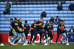 Coventry City players during warm-up