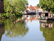 Kennet and Avon canal, Newbury lock, Newbury, Berkshire, England