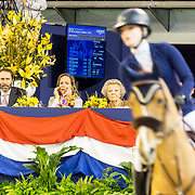 NLD/Amsterdam/20190126 - Prinses Beatrix bezoekt Jumping Amsterdam 2019, Tjaling Ten Cate en partner Prinses Margarita de Bourbon de Parme en prinses Beatrix