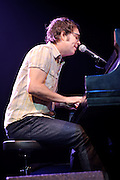 """Photos of singer Ben Folds performing at the Chaifetz Arena in St. Louis on the """"Ben Folds and a Piano Tour."""" April 16, 2010."""