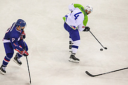 Aleksandar Magovac of Slovenia during Ice Hockey match between National Teams of Great Britain and Slovenia in Round #1 of 2018 IIHF Ice Hockey World Championship Division I Group A, on April 22, 2018 in Budapest, Hungary. Photo by David Balogh / Sportida
