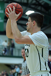 21 February 2017:  Alec Bausch during an College men's division 3 CCIW basketball game between the Augustana Vikings and the Illinois Wesleyan Titans in Shirk Center, Bloomington IL