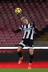 December 19, 2017 - Naples, Italy - JENS STRYGER (Udinese Calcio)..during the TIM Cup match between SSC Napoli and Udinese Calcio at Stadio San Paolo on December 19, 2017 in Naples, Italy. (Credit Image: © Paolo Manzo/NurPhoto via ZUMA Press)