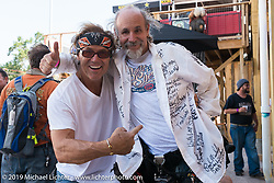 Jay Allen and Michael Lichter after the annual Michael Lichter - Sugar Bear Ride hosted by Jay Allen from the Easyriders Saloon during the Sturgis Black Hills Motorcycle Rally. SD, USA. Sunday, August 3, 2014. Photography ©2014 Michael Lichter.