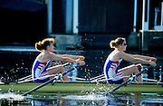 Marlow, United Kingdom, GBR W2X bow; Miriam BATTEN and Gillian LINDSAY , Training session women's rowing squard, River Thames, Longridge Scout Camp, summer, 1997 [ Mandatory Credit; Peter Spurrier/intersport Images] 1997 Women's Squard Training, Longridge Scout Camp,