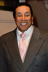 © Licensed to London News Pictures. 08/03/2016. SMOKEY ROBINSON attends the Motown The Musical press night. Motown hits featured in the production include Dancing In The Street, I Heard It Through The Grapevine and My Girl. London, UK. Photo credit: Ray Tang/LNP