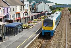 Train, Burry Port Carmarthenshire South Wales Coast