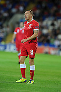 Craig Bellamy of Wales .  Euro 2012 Qualifying match, Wales v Montenegro at the Cardiff City Stadium in Cardiff  on Friday 2nd Sept 2011. Pic By  Andrew Orchard, Andrew Orchard sports photography,
