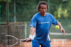 Bojan Glavic, novinar Dnevnika, Drzavno prvenstvo novinarjev v tenisu 2019, on June 12, 2019 in Tivoli, Ljubljana, Slovenia. Photo by Saso Pahic Szabo / Sportida