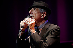 March 18, 2013 - Tampa, Florida, U.S. - Canadian singer and songwriter Leonard Cohen performs ''Dance Me To The End of Love'' on Monday, March 18, 2013 at the Straz Center in Tampa. (Credit Image: © Edmund D. Fountain/Tampa Bay Times/ZUMAPRESS.com)