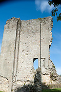 The keep at Domfront castle. Veloscenic cycle route, Normandy, France © Rudolf Abraham