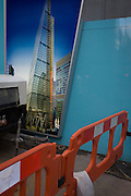 Unfinsihed illustration of future office development of the Leadenhall Building by the Brookfield Multiplex construction company at 100 Bishopsgate.