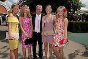 ROCHIN VINALL; BINDY VINALL; GUY VINALL; OLIVIA GRANT; AMBER VINALL, Glorious Goodwood. Ladies Day. 28 July 2011. <br /> <br />  , -DO NOT ARCHIVE-© Copyright Photograph by Dafydd Jones. 248 Clapham Rd. London SW9 0PZ. Tel 0207 820 0771. www.dafjones.com.