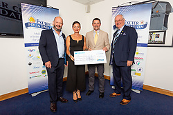 The Nightstop Devon Charity receives their cheque - Ryan Hiscott/JMP - 06/08/2018 - RUGBY - Sandy Park - Exeter, England - Exeter Chiefs Season Launch Dinner