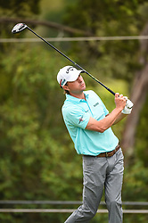 March 25, 2018 - Austin, TX, U.S. - AUSTIN, TX - MARCH 25: Alex Kisner watches his tee shot during the semifinals match of the WGC-Dell Technologies Match Play on March 25, 2018 at Austin Country Club in Austin, TX. (Photo by Daniel Dunn/Icon Sportswire) (Credit Image: © Daniel Dunn/Icon SMI via ZUMA Press)