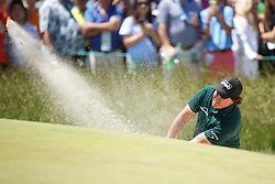 June 16, 2018 - Southampton, NY, USA - Phil Mickelson hits out of a trap on the 8th hole during the third round of the 2018 U.S. Open at Shinnecock Hills Country Club in Southampton, N.Y., on Saturday, June 16, 2018. (Credit Image: © Brian Ciancio/TNS via ZUMA Wire)