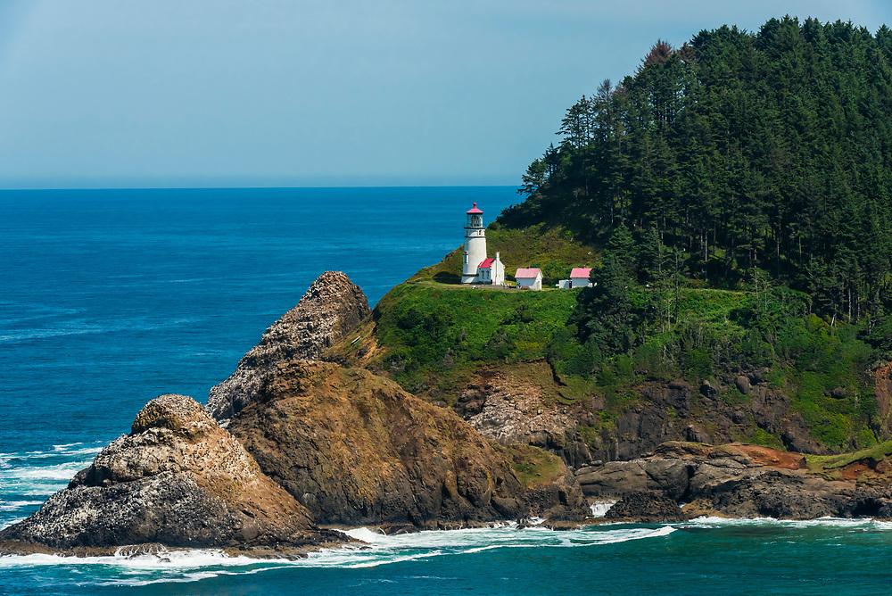 Heceta Head Lighthouse, near Florence, Oregon USA.