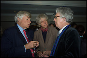 GEOFFREY ROBERTSON; SIR BOB GELDOF;  SIR PETER STOTHARD, Fortnum and Mason and Quartet books host a celebration for the publication of  The White Umbrella by Brian Sewell. Illustrated by Sally Ann Lasson. Fortnum and Mason. Piccadilly. London. 3 March 2015.