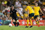 Annalie Longo in possession during the Cup of Nations Women's Football match, New Zealand Football Ferns v Matildas, Leichhardt Oval, Thursday 28th Feb 2019. Copyright Photo: David Neilson / www.photosport.nz
